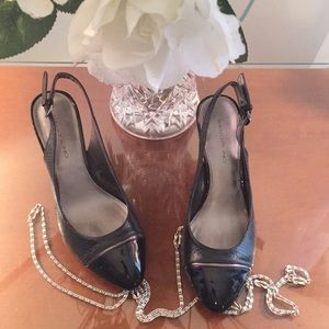 Stunning 🌹combo snakeskin & patent heel shoe pump